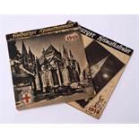 Zwei Freiburger Heimatkalender, Jahrgang 1948 und 1949Als Postkarten gearbeitet. Interessantes