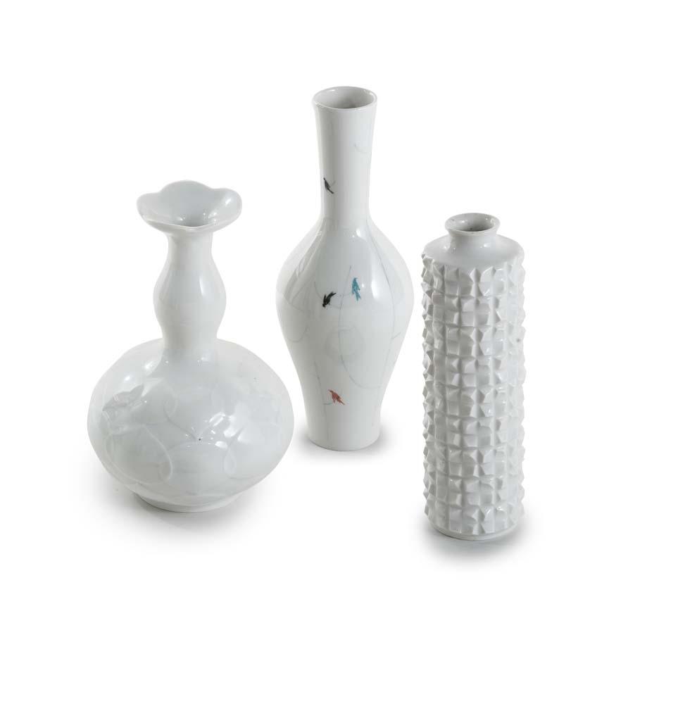 Moderne Vasen porzellan meissen drei moderne vasen entwürfe u a ludwig