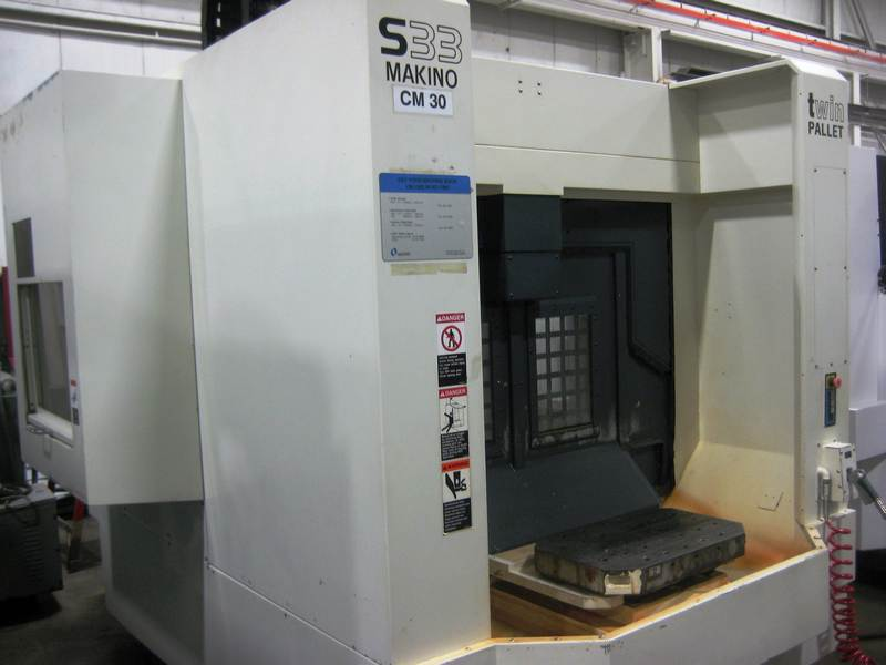 machining center pallet. lot 32 - makino s33-apc 3-axis precision cnc vertical machining center with machining center pallet r
