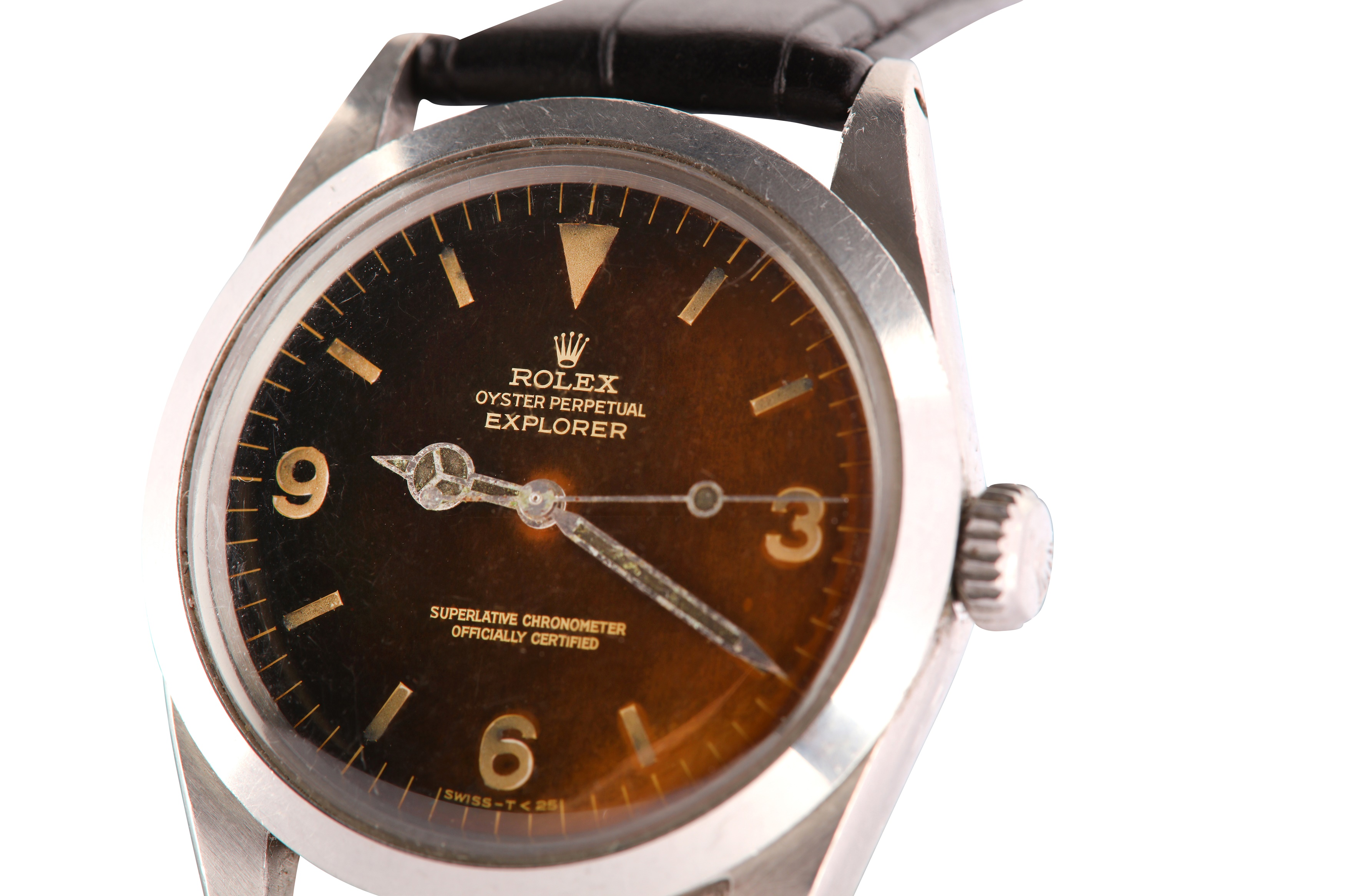 A RARE AND ATTRACTIVE MEN'S ROLEX STAINLESS STEEL AUTOMATIC WRISTWATCH - Image 9 of 9