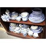 "A quantity of Spode ""Italian"" pattern china, a selection of ""Old Willow"" pattern china and other"