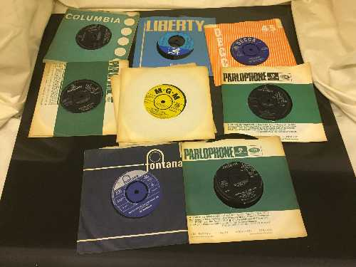 Lot 2 - A box of 45's including The Beatles, Rolling Stones, The Who,