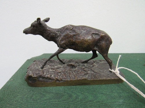 Lot 328 - A bronze deer figurine in the style of Mene. Estimate £80-100.