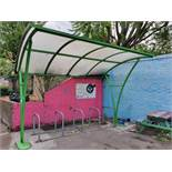 1 x Bike Shelter With Bike Racks - Suitable For Upto 8 Bikes - Contemporary Design - Suitable For
