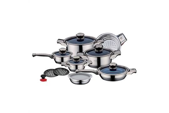 V 16pc Precision Royalty Line Switzerland Stainless Steel Cooking
