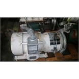 Tri-Clover Centrifugal Pump Model: C218MD18T-S-5-1 Serial S04290 2.5in IN 2in OUTMotor - 5HP 230/460