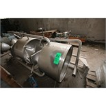 "Aprox. 90 Gal. Dual Cone-Bottom S/S Balance Tanks, Dimension 22"" Deep x 35"" W (Located in"