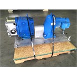 Waukesha Positive Displacement Pump Model: 220 Serial:411740-06 4.5in IN 4.5in OUTMounted on a