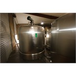 Cherry Burrell 1,000 Gal. Dome-Top, Slopped Bottom S/S Mix Tank, S/N E513-90A-1 with Bottom Sweep