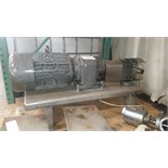 Unibloc Positive Displacement Pump Serial: 10532 2in IN 2in OUTMounted on a Stainless Steel Plate,