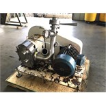 Waukesha Positive Displacement Pump Model: 220 Serial: 11671 SS 4.5in IN 3.5in OUTMounted on Steel