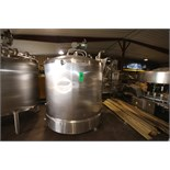 Cherry Burrell 1,000 Gal. Dome-Top, Slopped Bottom S/S Mix Tank, S/N E513-90B-1 with Bottom Sweep