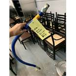 Boyau gaz bleu quick release 3/4 ''