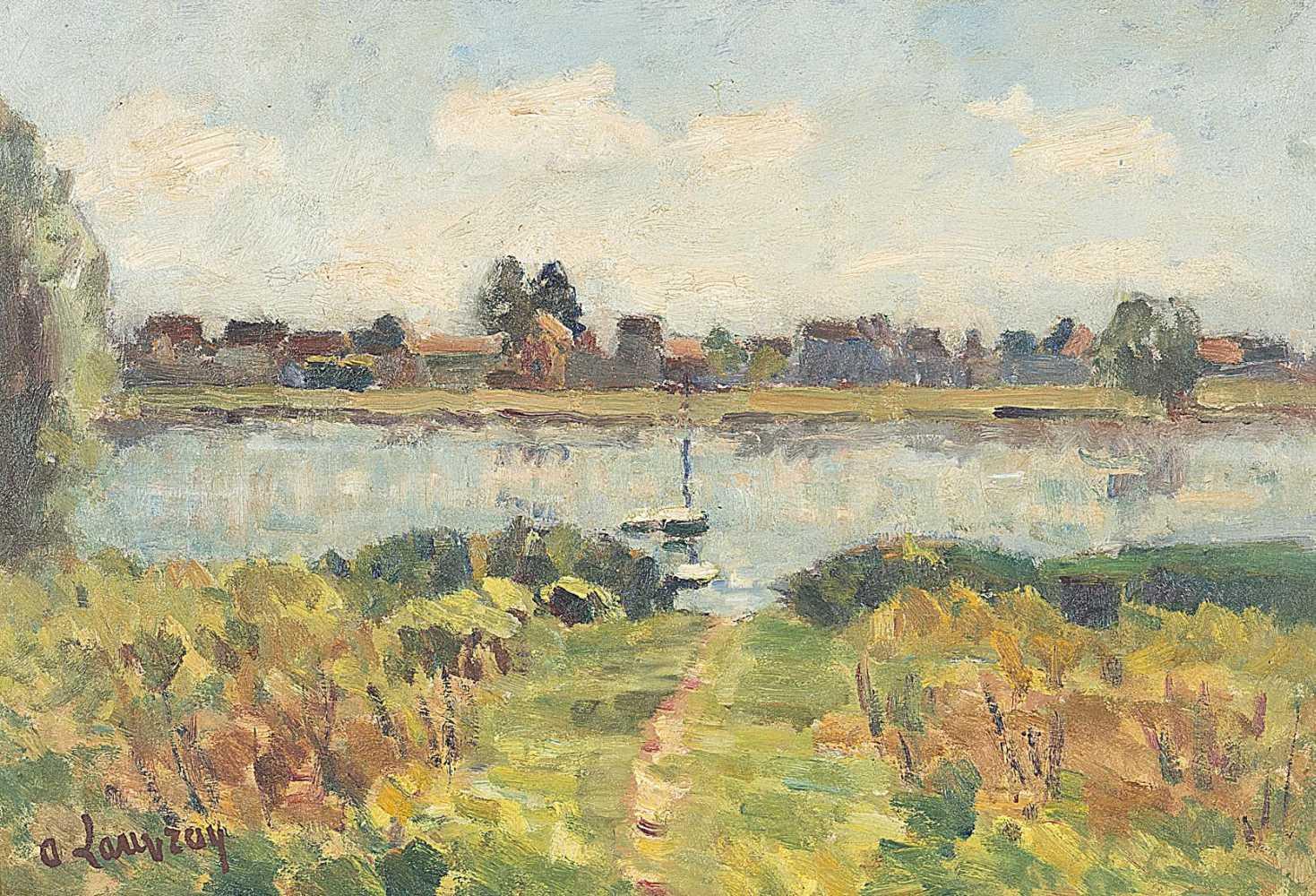 Huile sur bois de louis alphonse abel lauvray 1870 1950 for Peintre sur bois