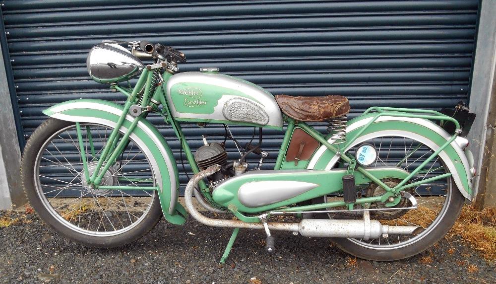 Lot 95 - A Koehler Escoffier motorcycle, 1940, FSL 426, running. Koehler Escoffier used a Villiers 98cc Twin