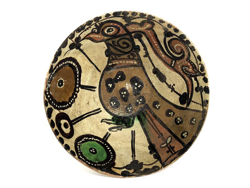 Persische Schale Höhe: 10,5 cm. Durchmesser: 21,3 cm. Iran, Nishapur, 9. Jahrhundert. Hellroter
