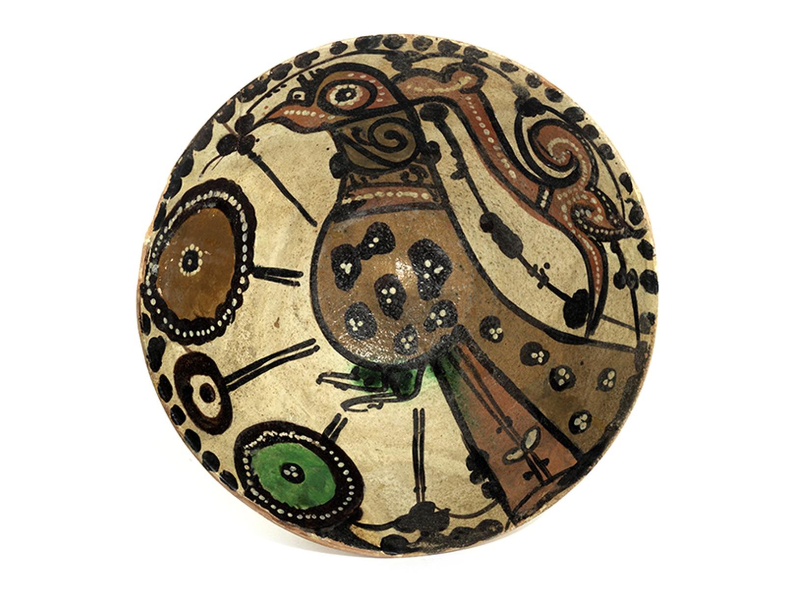 Persische Schale Höhe: 10,5 cm. Durchmesser: 21,3 cm. Iran, Nishapur, 9. Jahrhundert. Hellroter - Bild 4 aus 4