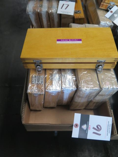 Lot 16 - Metric Ggage Block Sets (6)