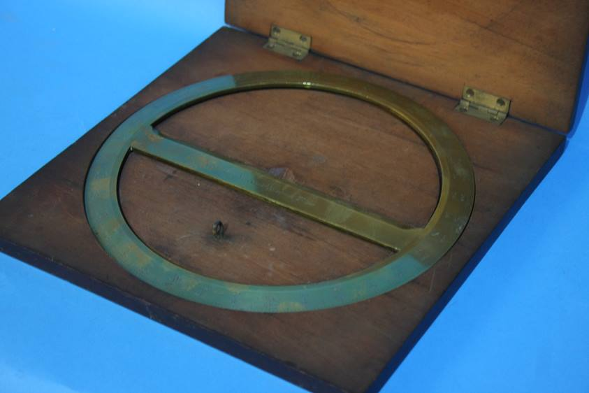 Lot 63 - Two cased brass protractors by John Cail and T.B W