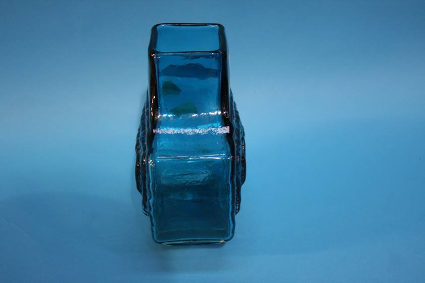Lot 38 - A Whitefriars Kingfisher blue TV vase. 17cm tall