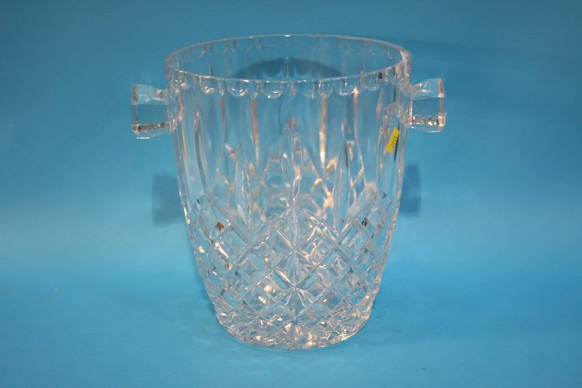 Lot 57 - Four cut glass decanters and an ice bucket