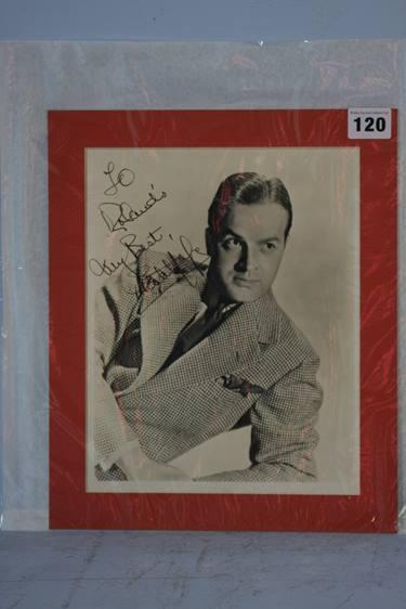 Lot 120 - Bob Hope, signed photograph
