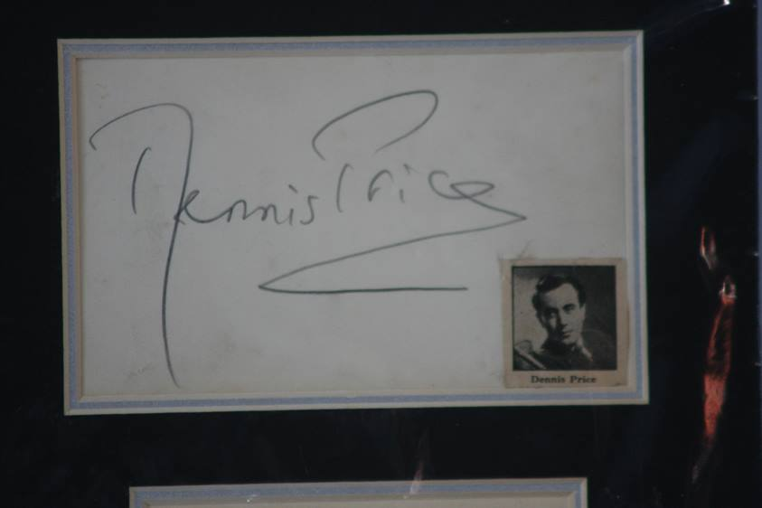Lot 110 - Kind Hearts and Coronets' Ealing Studios film 1949, signatures of cast comprising, Joan Greenwood,