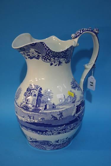 Lot 71 - A Spode 'Italian' wash jug and bowl