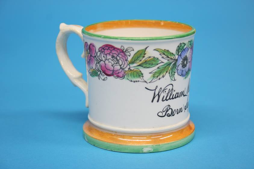 Lot 4 - A Victorian tankard 'Trust in God' another Christening tankard to William Metcalfe Shearer, born