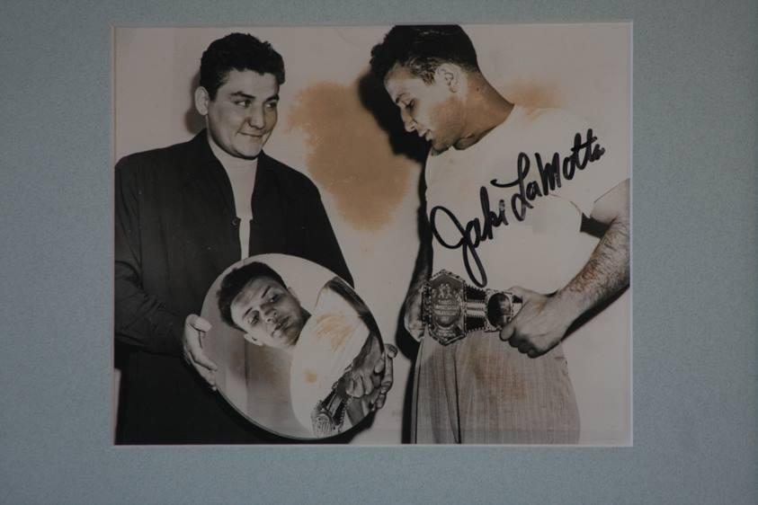 Lot 114 - Raging Bull- Jake LaMotta middleweight boxing champion, signed photograph of LaMotta middleweight