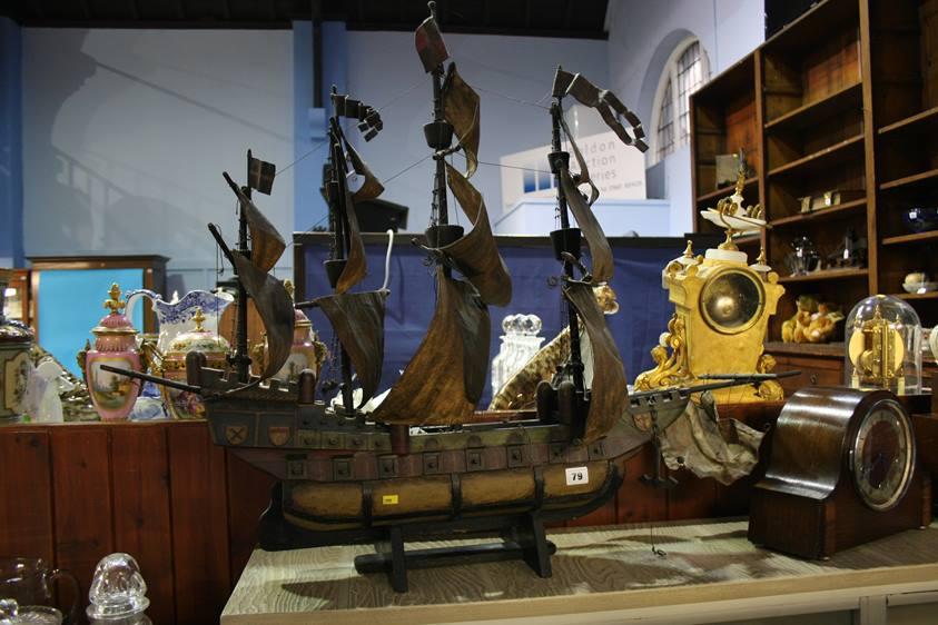 Lot 79 - A model galleon
