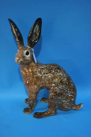 Lot 58 - A Winstanley pottery hare