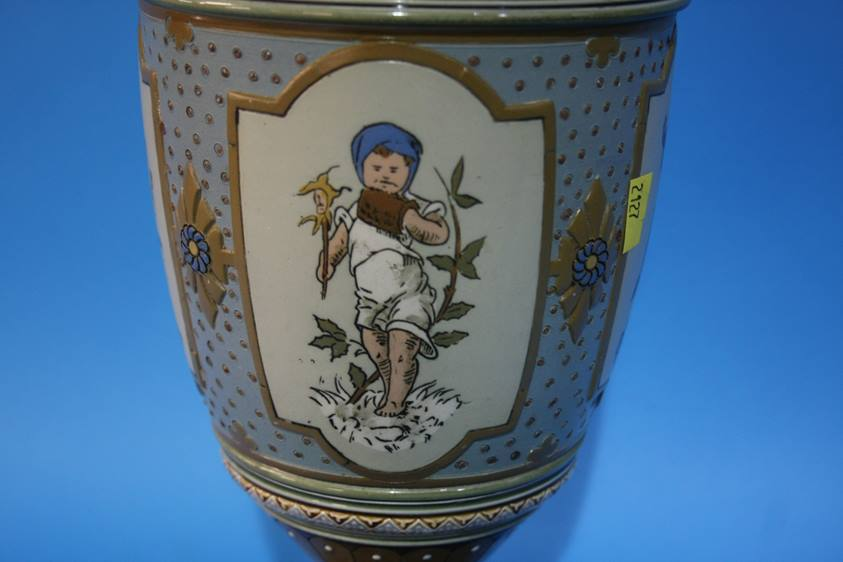 Lot 75 - A pair of Mettlach vases