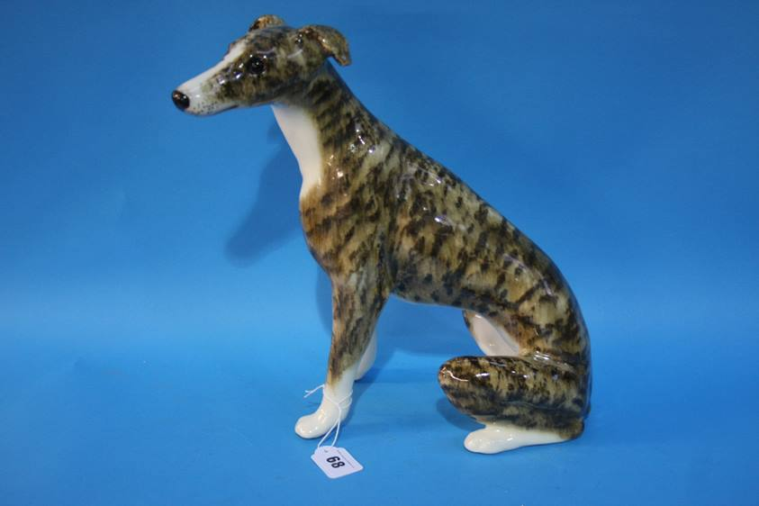 Lot 68 - A Winstanley pottery Greyhound