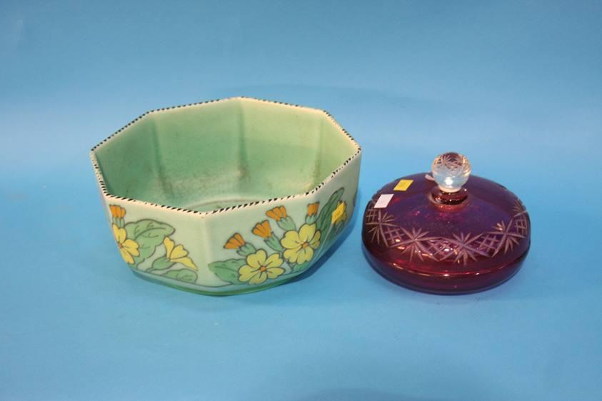 Lot 72 - A Rosenthal jug, a Charlotte Rhead bowl etc.