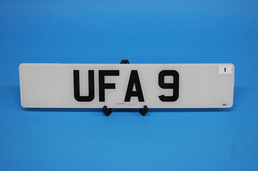 Lot 1 - A private number plate UFA 9