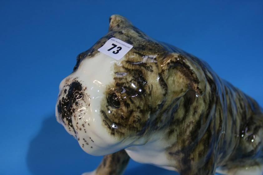 Lot 73 - A Winstanley pottery Bull dog
