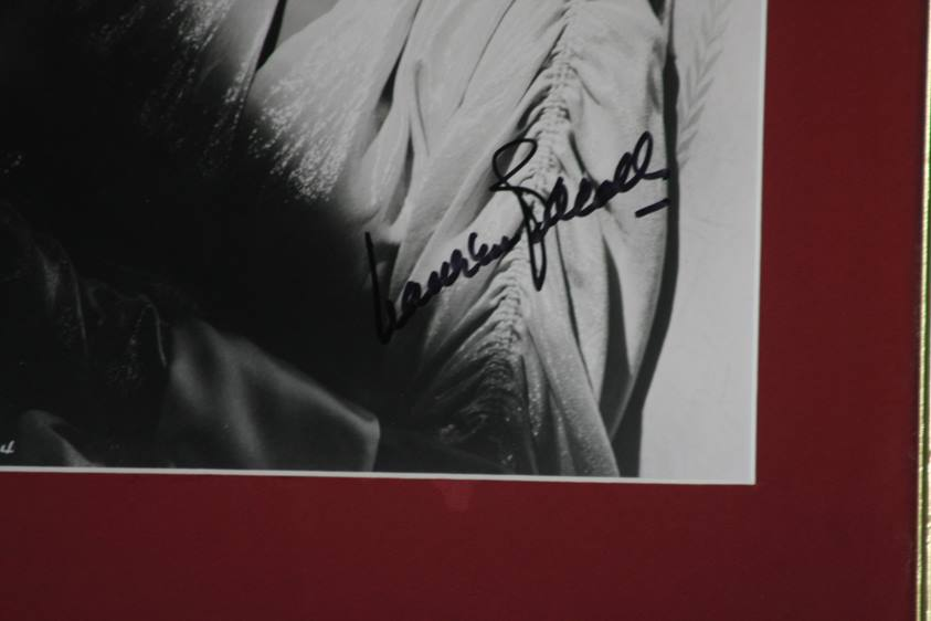 Lot 116 - Lauren Bacall (1924-2014), signed photograph, framed