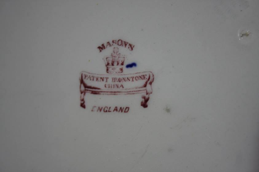 Lot 60 - A Mason's ironstone charger and an Imari pattern plate