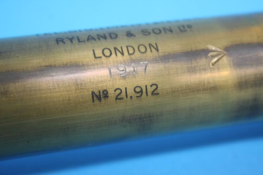 Lot 13 - A Ryland and Sons Ltd of London 1st World War two drawer telescope, dated 1917