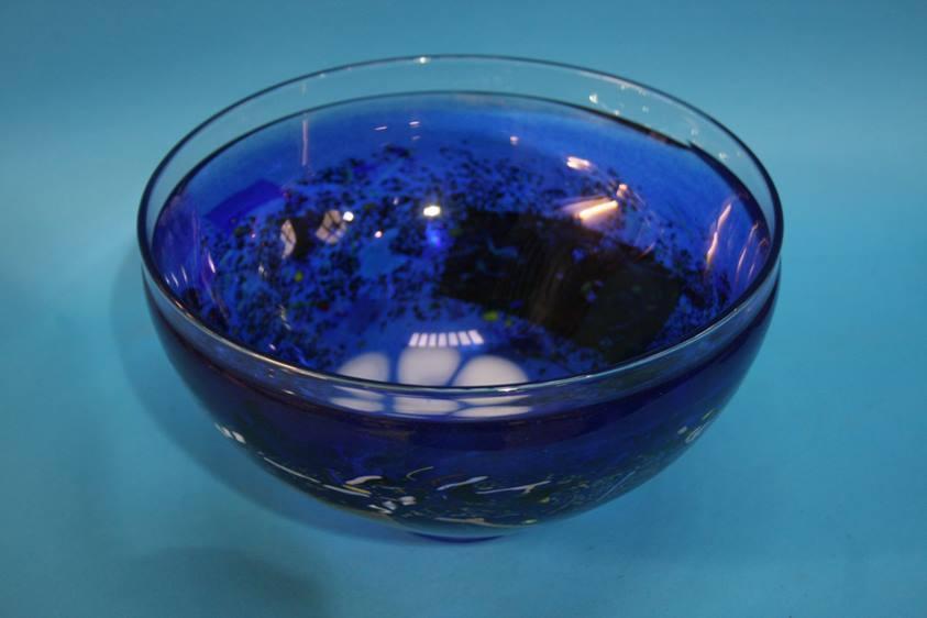 Lot 47 - A Kosta Boda glass bowl, signed B. Vallian (Bertil