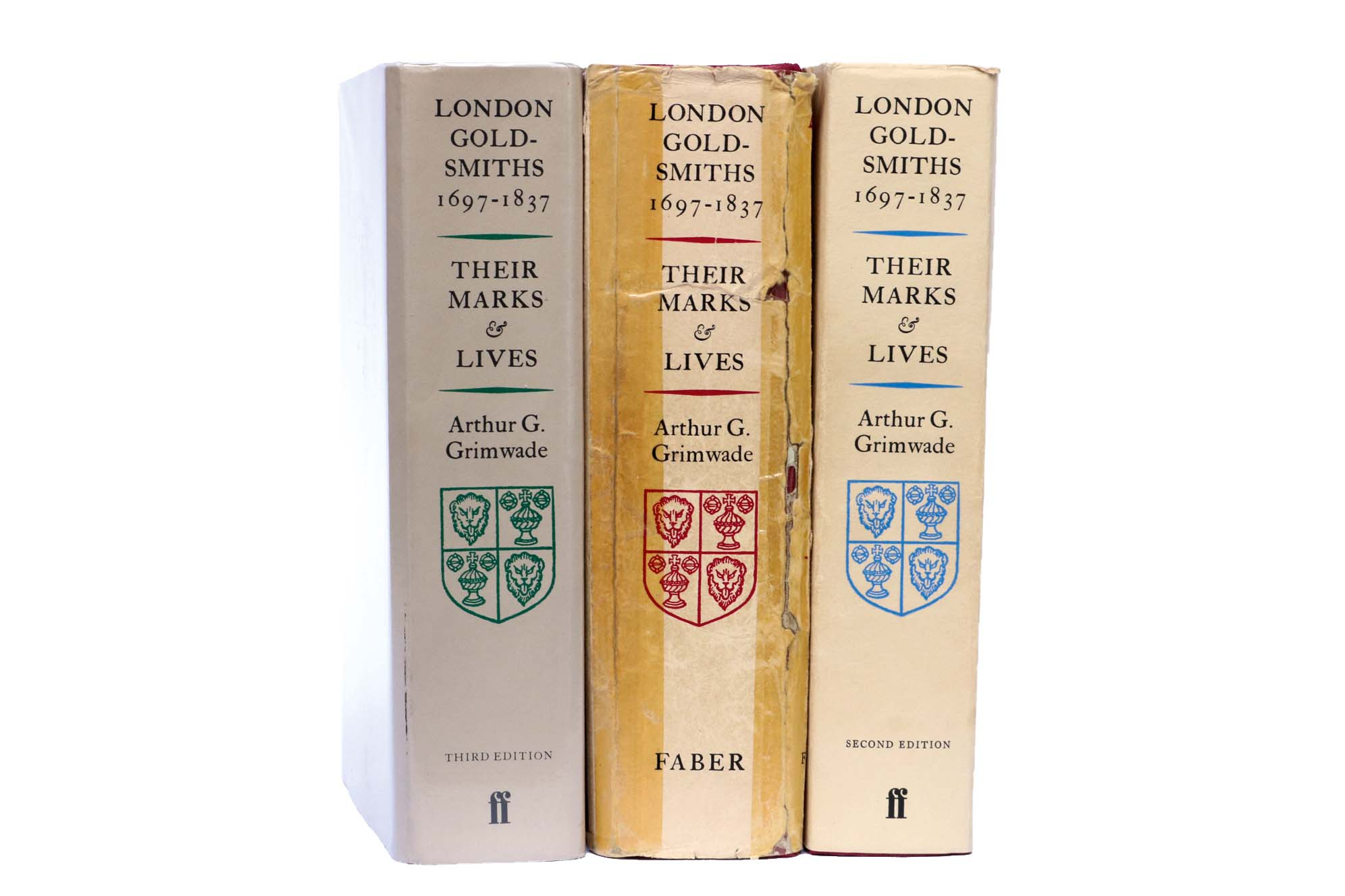 Lot 24 - Grimwade, A.G: London Goldsmiths 1697-1837, Faber & Faber 1976, 1982 and 1990 editions (3)