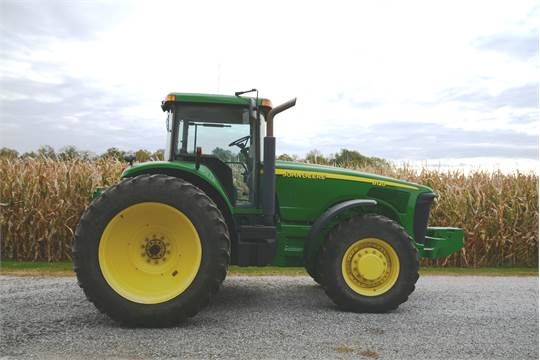 2003 JD 8120 W/ deluxe cab, MFWD, duals, C/H/A, (3) hyd  outlets