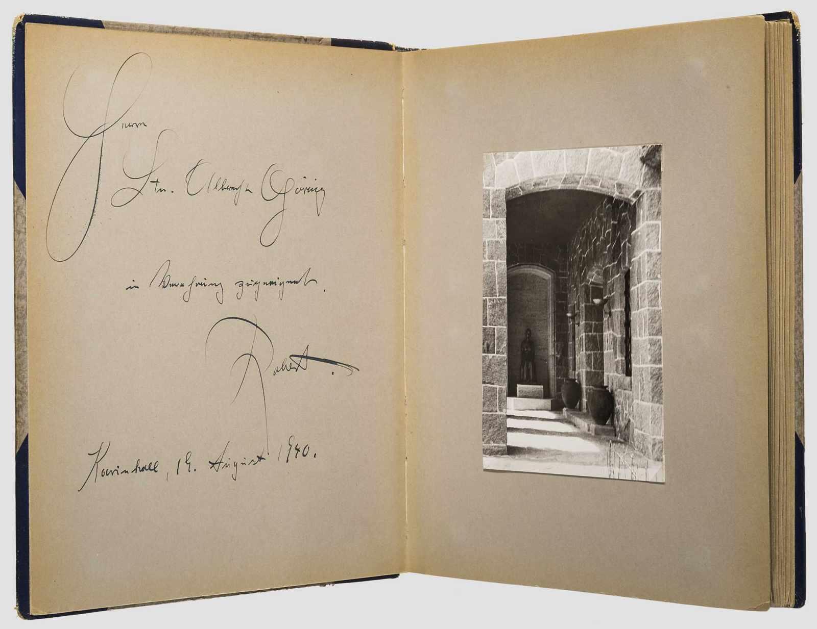 Hermann Goring Geschenk Fotoalbum Carinhall An Seinen Neffen Albrecht Goring 1940 Grossformatige