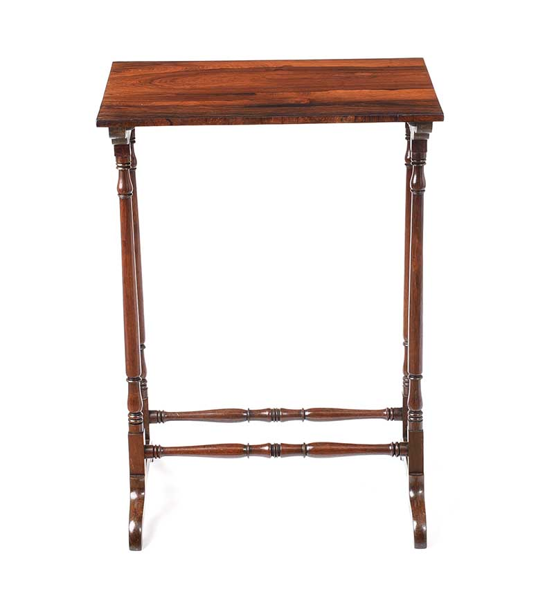 ANTIQUE ROSEWOOD LAMP TABLE - Image 5 of 6