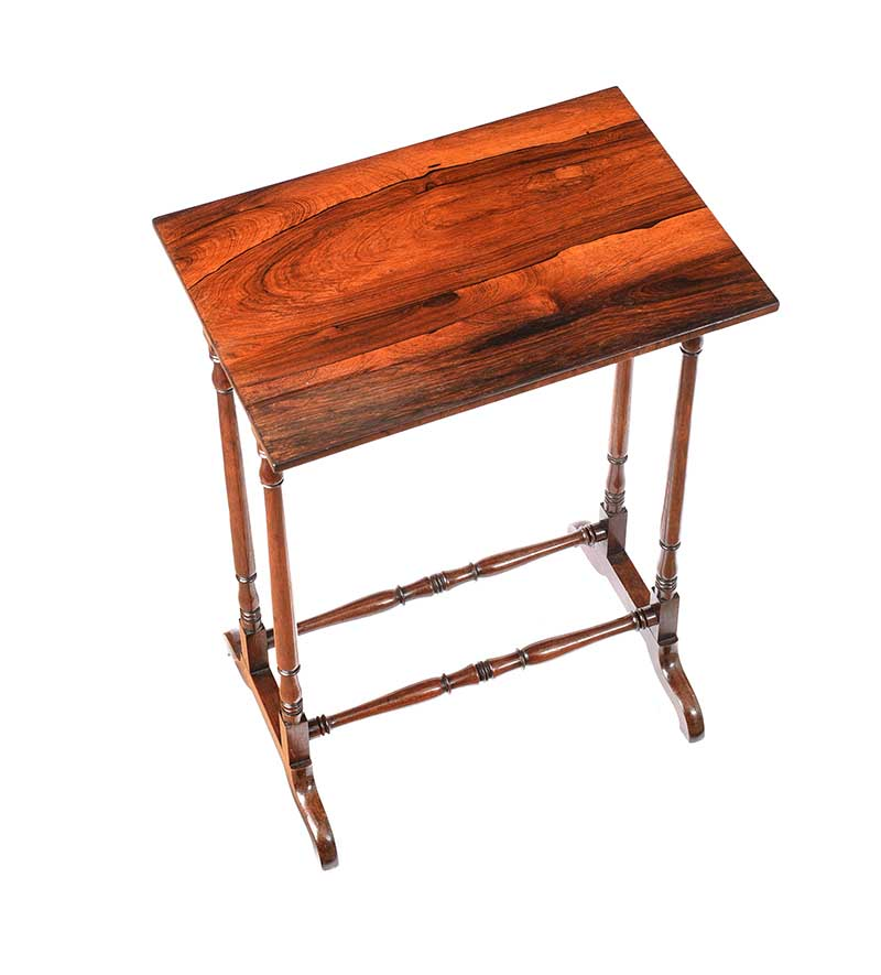 ANTIQUE ROSEWOOD LAMP TABLE - Image 3 of 6
