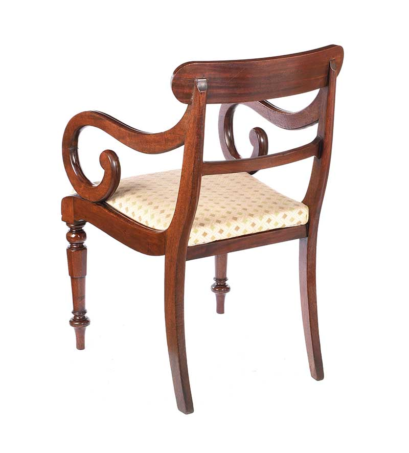 REGENCY MAHOGANY ARMCHAIR - Image 6 of 6