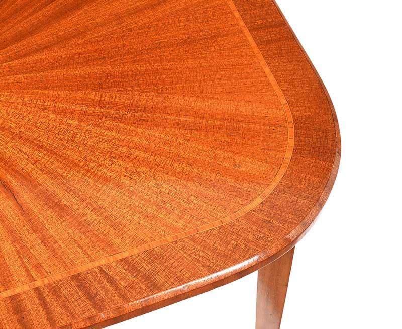 EDWARDIAN SATIN WOOD LAMP TABLE - Image 2 of 7