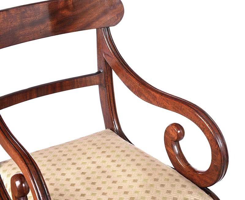 REGENCY MAHOGANY ARMCHAIR - Image 2 of 6