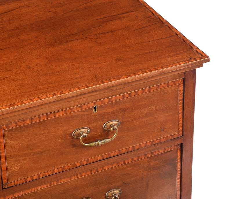 Lot 21 - EDWARDIAN INLAID CHEST OF DRAWERS